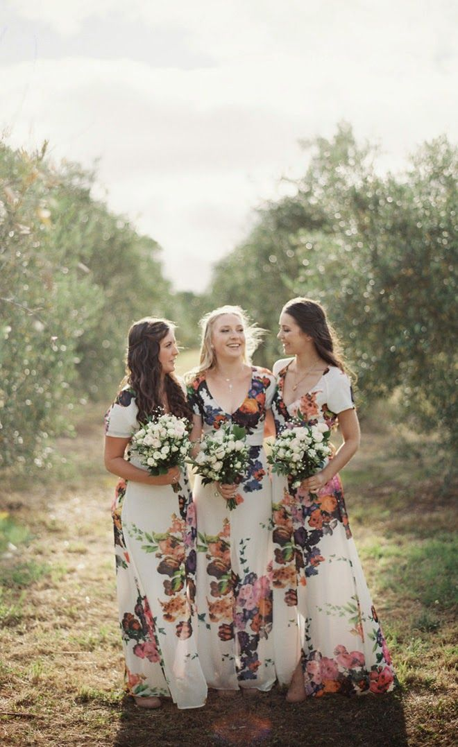 {Wedding Trends} : Floral Bridesmaid Dresses - Belle The Magazine