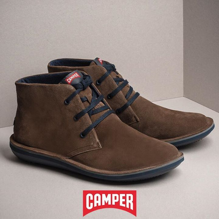 Comfy brown/olive suede #Camper casual ankle boots for him, NOW -40% OFF! Shop Online