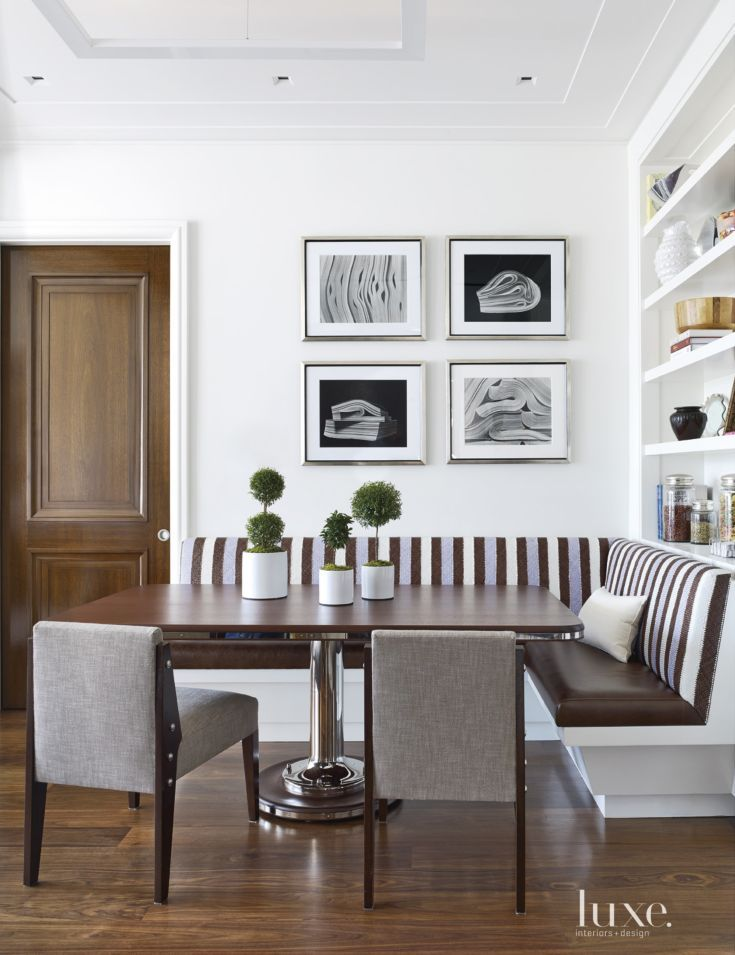 To Maximize E In The Breakfast Nook Foley And Tucked A Banquette Wearing Leather