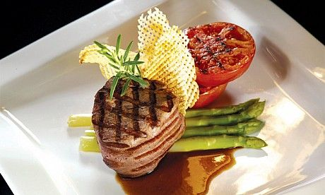 Char grilled tenderloin of wagyu beef have you completely for American cuisine presentation