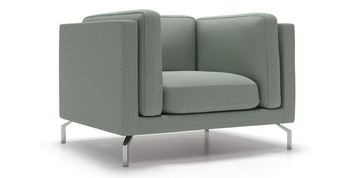 Malmo Chair in Light Jade Fabric by Kavuus.com - (Made in Canada)