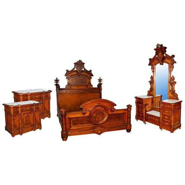 62 best Antique Bed Set images on Pinterest Antique furniture