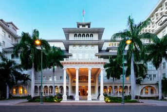 Moana Surfrider, Waikiki Beach, Hawaii - went on vacation there with my sister and her family . . . funny events eventually led us to a week stay in the Penthouse Suite!!