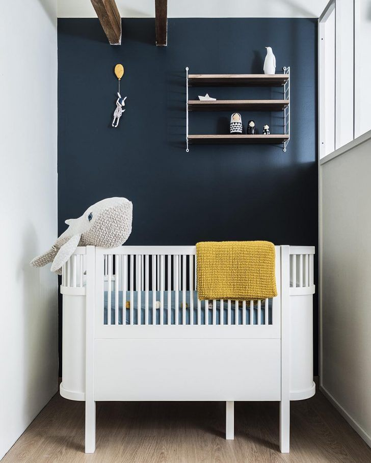 The very dark midnight blue looks dreamy with the mustard accents in the room. It's a tiny space but it still has bags of charm http://petitandsmall.com/beautiful-blue-rooms-mustard-accents/