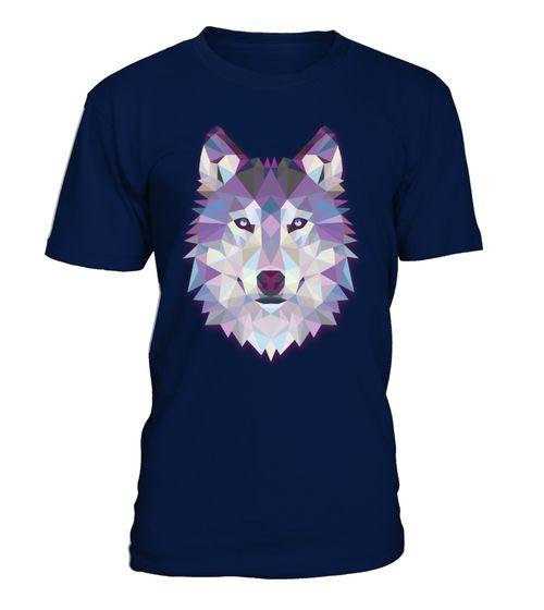 Geometric Wolf Funny animal TShirts (*Partner Link)