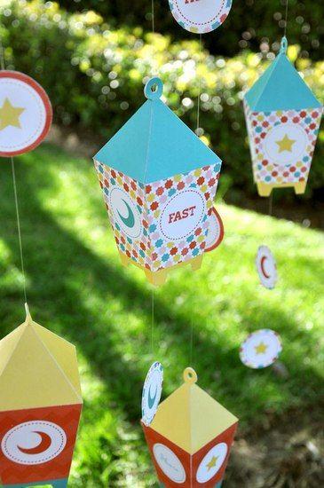 Free printable Ramadan lantern Pattern