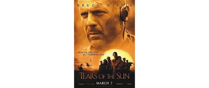 Tears of the Sun is full of atmosphere: shadows, ceaseless rain, lush vegetation, mud...for the atmosphere, and the fans of the talented, squint-eyed, stubble-bearded Bruce Willis, Tears of the Sun may be worth watching.