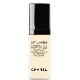Chanel Concealer LIFT LUMIÈRE. This anti-aging formula does more than mask your skin's imperfections with medium-to-full coverage. A special LIFTOPTIC™ complex visibly diminishes the look of wrinkles and fine lines, while a Tetrapeptide targets the fluid that builds up under the eyes and makes them look tired. The appearance of puffiness and dark circles is measurably reduced, so your eyes look beautifully refreshed.