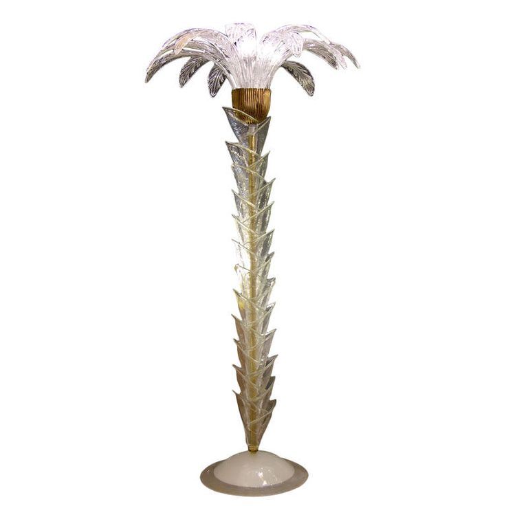 palm tree floor lamp in murano glass trees palm trees and opaline. Black Bedroom Furniture Sets. Home Design Ideas