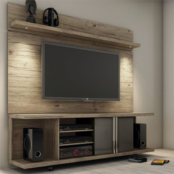 """Lowest price online on all Manhattan Comfort 71"""" TV Stand and Panel in Natural and Onyx - 2-1456881461"""