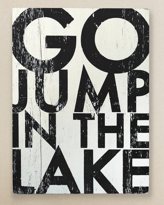 Go Jump in the Lake SALE Black Only by GoJumpInTheLake on Etsy, $45.00