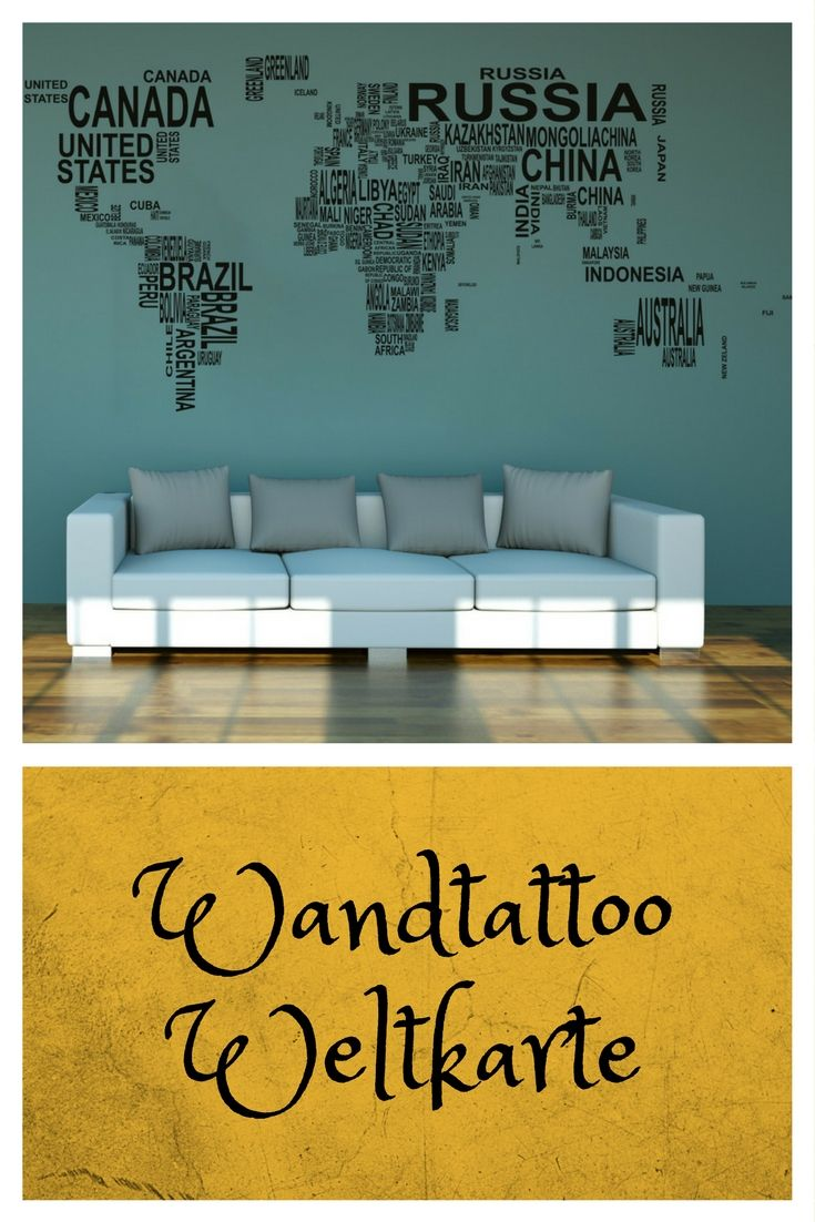 die besten 25 wandtattoo weltkarte ideen auf pinterest. Black Bedroom Furniture Sets. Home Design Ideas