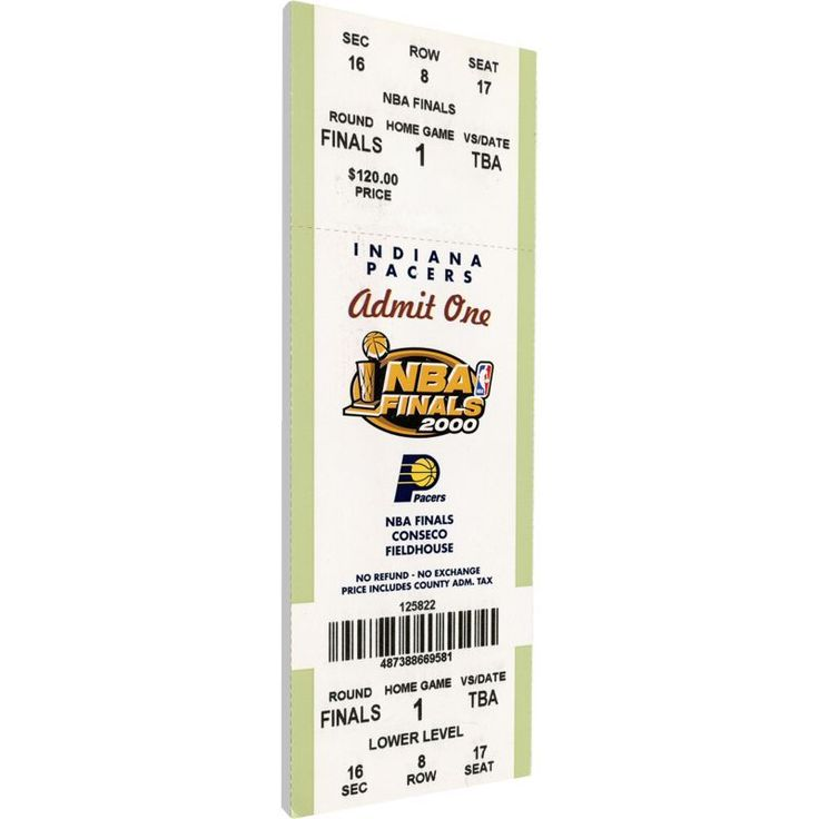 That's My Ticket Indiana Pacers 2000 NBA Finals Game 3 Canvas Ticket