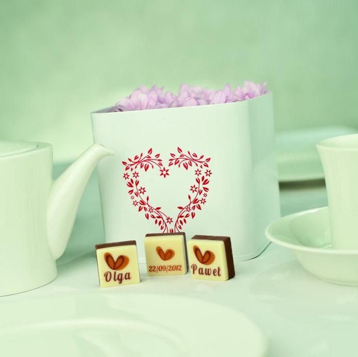 Czekoladki dla gości Weselnych / Gifts for wedding guests / #chocolate #chocolissimo #wedding