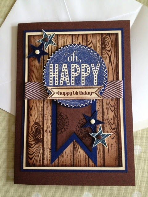 Stampin' Up! Starburst Sayings, woodgrain background stamp; Jo-Jo's Crafty Blog