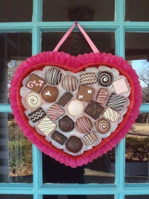 Chocolate lover's Valentine's Day wreath DIY