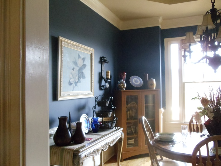 Behr English Channel For The Home Dining Room Light Fixtures Navy Bedrooms Dining Room