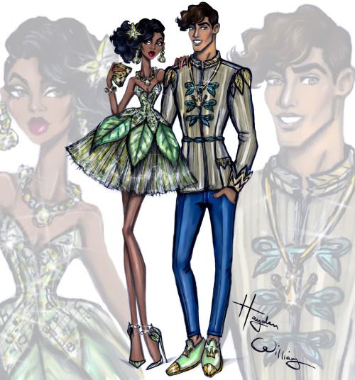 Disney Darling Couples: Tiana and Prince Naveen, art by Hayden Williams