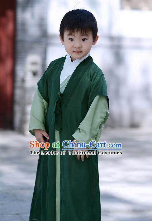 5ee977574 Traditional Ancient Chinese Children Elegant Costume Cardigan, Elegant Hanfu  Clothing Chinese Han Dynasty Boys Scholar Clothing for Kids