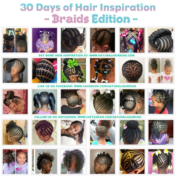 30 days of hairstyle inspiration for kids with natural hair read more at www.naturalhairkids.combraids | cornrows | twists | Updos | ponytails | buns | bows | beads | barrettes | mohawks | braids | kids hairstyles | natural hair |