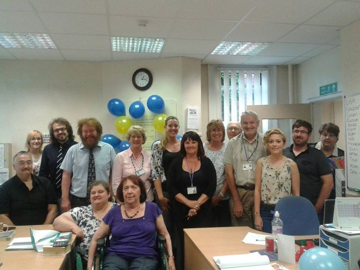 Citizens Advice in the District of Wigan and Leigh celebrating 75 years of Advice at the Leigh office staff meeting