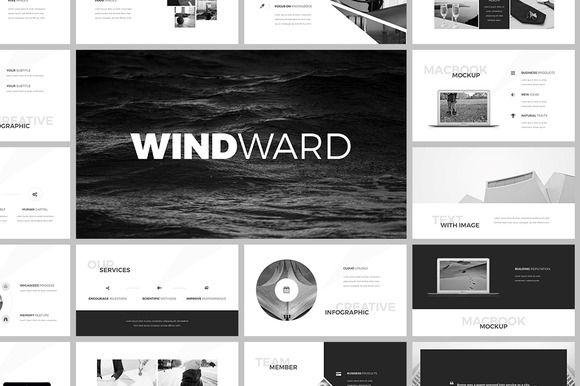 WindWard #PowerPoint #Template by SlideStation on @creativemarket