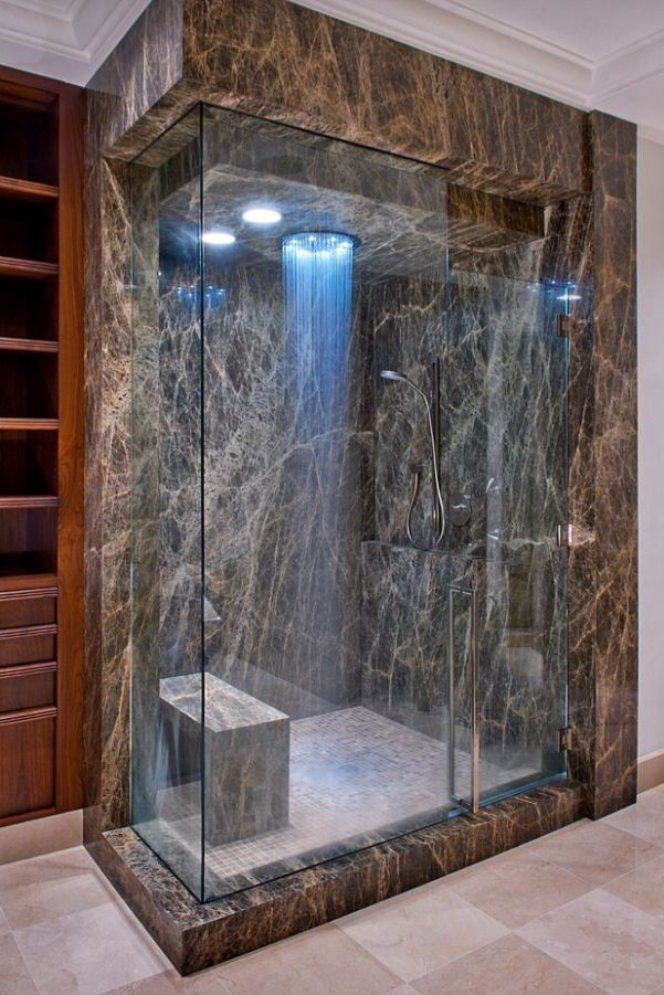 View This Great Traditional Master Bathroom With Complex Granite Counters U0026  Rain Shower Head. Discover U0026 Browse Thousands Of Other Home Design Ideas On  ...