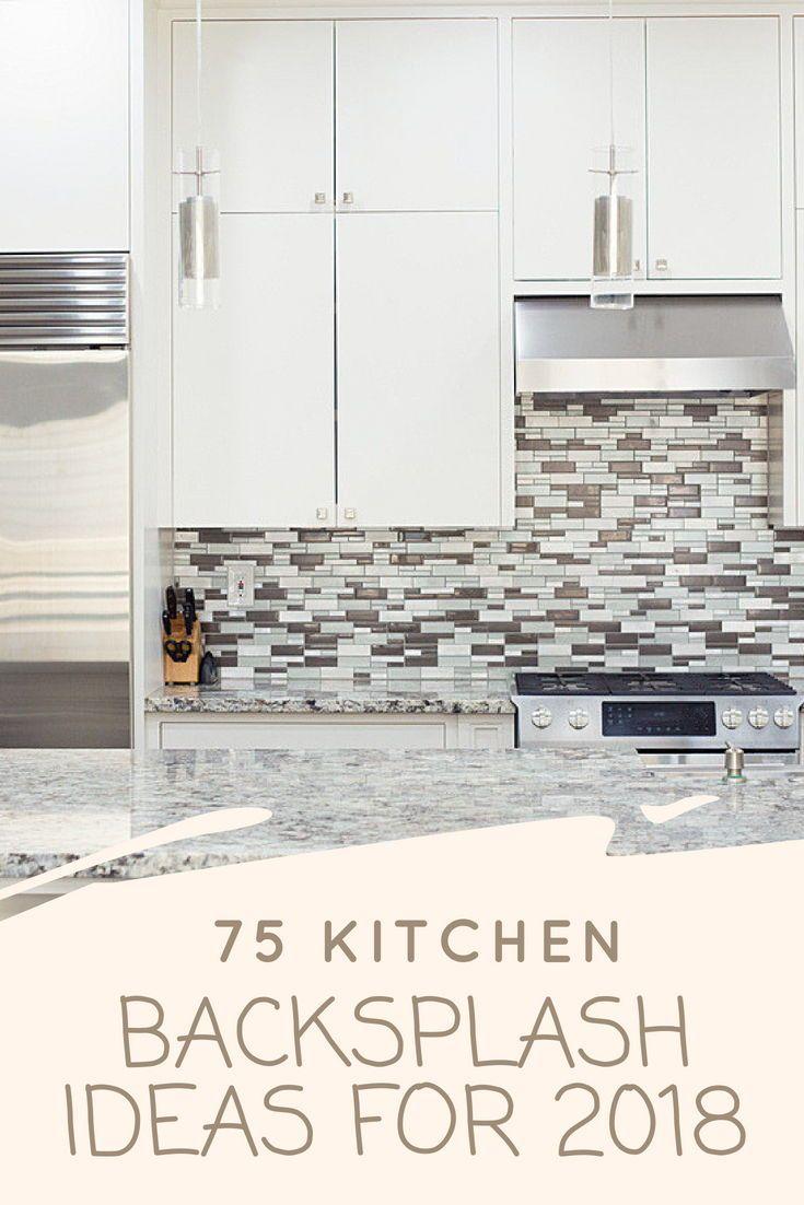 75 Kitchen Backsplash Ideas For 2020 Tile Glass Metal Etc Backsplash Glass Backsplash Concrete Tiles Kitchen