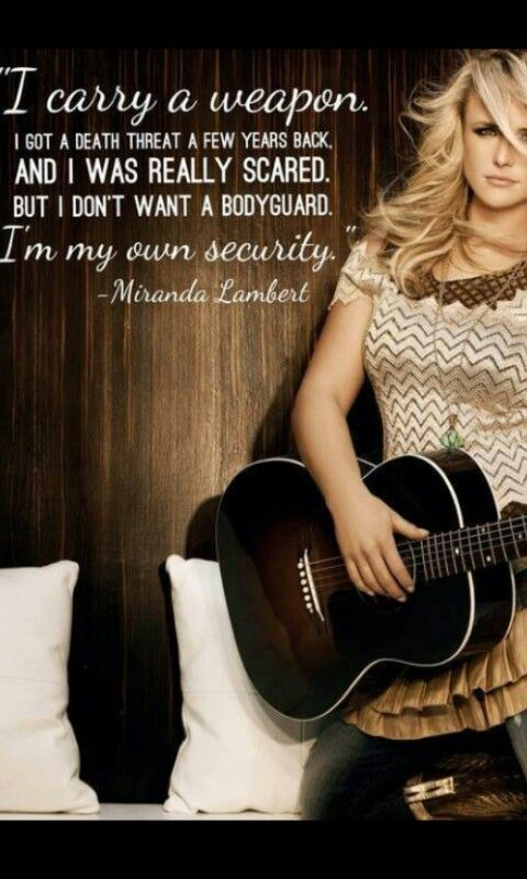 And this is why she's my role model #MirandaLambert