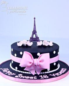 Sweet 16 Cakes | Patisserie Tillemont | Montreal - 1-tier Paris theme