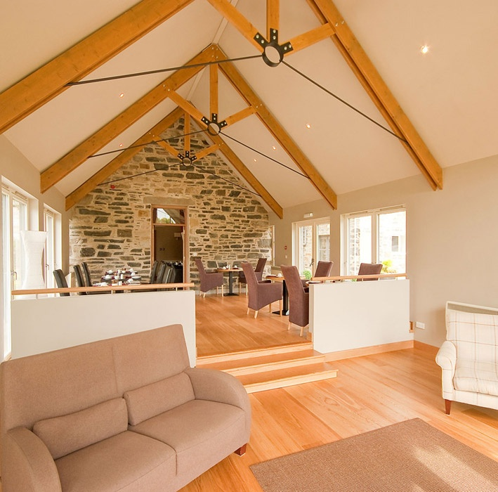 Roof Trusses And Stone Wall Craigatin House Pitlochry