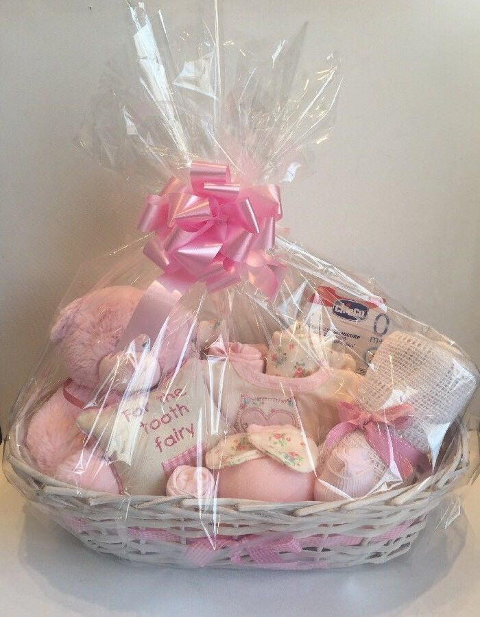 0a874df36f8aa Baby Girl Gift Basket Baby Hamper Baby Shower Gift New Born Baby Girl Pink