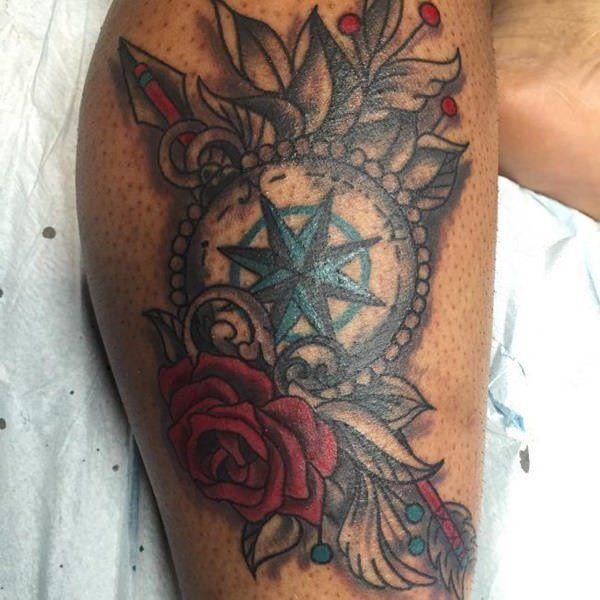 110 Best Compass Tattoo Designs Wild Tattoo Art Compass Tattoo Design Compass Tattoo Traditional Compass Tattoo
