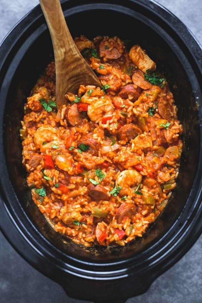 Slow Cooker Jambalaya   lecremedelacrumb.com
