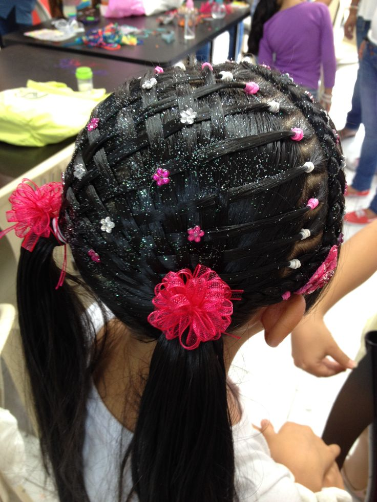 131 best hairstyles using rubber band 39 s images on - Peinados de ninas ...