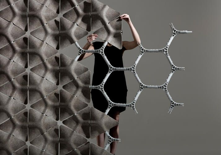 Forget Cubicles. These Acoustic Dampening Honeycombs Are Made Of Hemp