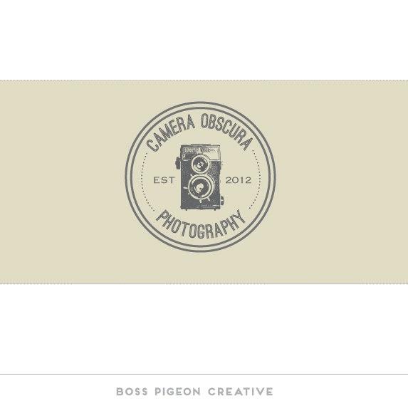 Pre made Graphic Design Elegant  Vintage Photography Logo Camera Obscura.  via Etsy.