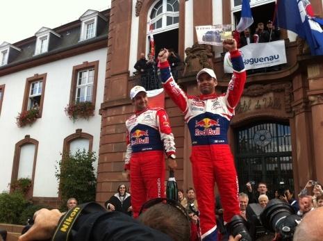Le rallye d'Alsace -  9è titre pour Sébastien Loeb - le 07 octobre 2012 - France3 Alsace