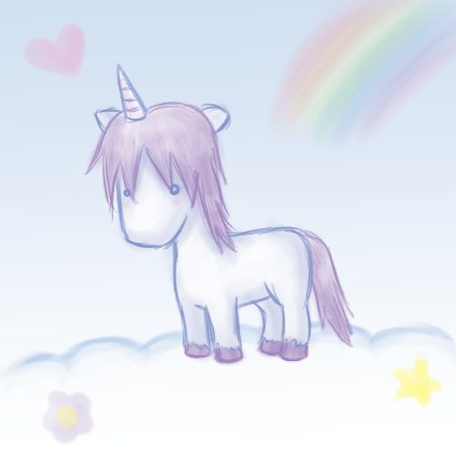 Unicorns are the most prettiest thing in the world... Even if they don't exist. (^∇^)