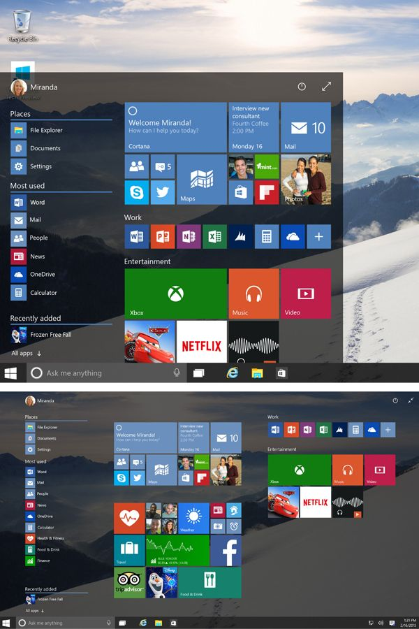 The new Start Screen gives you an at-a-glance view of all your favorite apps and the familiar Start Menu you love is back! This is the Windows you know, only better. #Microsoft #Windows10