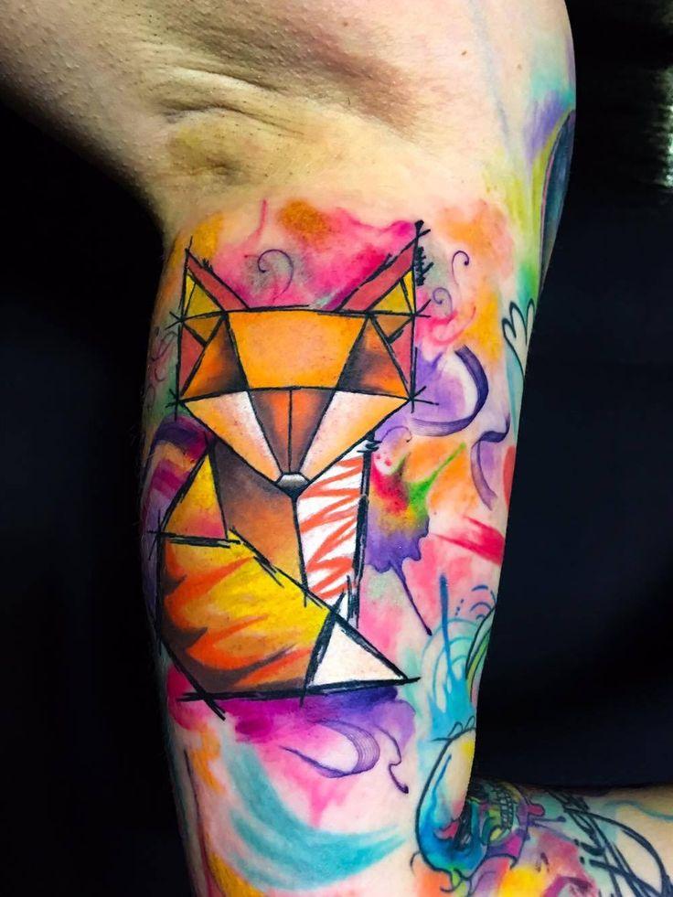 #fox #watercolor #geometric #amazing #awesome #design #tattoo #artist #professional