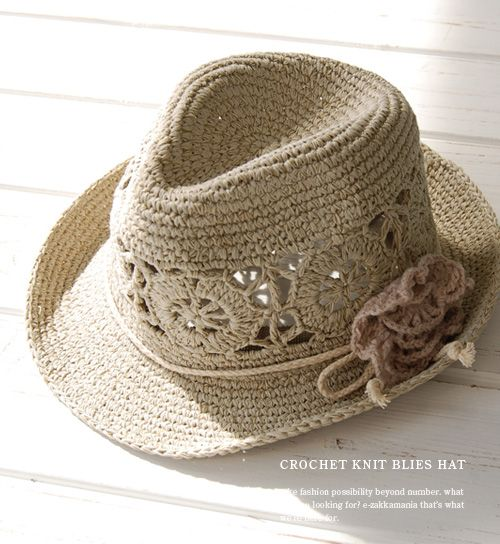 crochet hat with brim