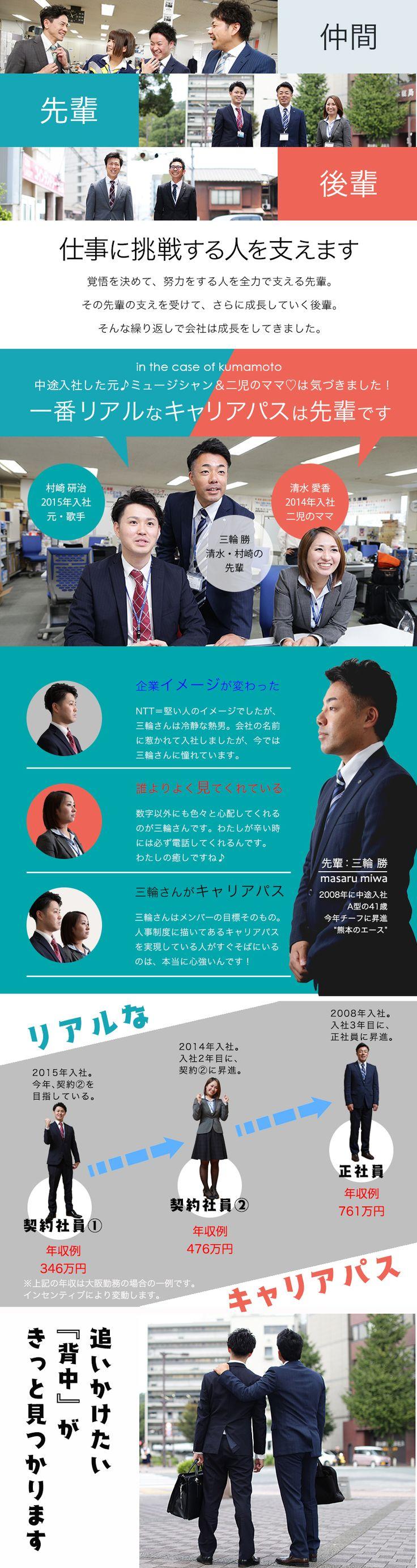 NTT西日本ビジネスフロント株式会社/法人営業/NTT西日本のICTサービス(光IP電話・フレッツ光など)の提案/未経験歓迎の求人PR - 転職ならDODA(デューダ)