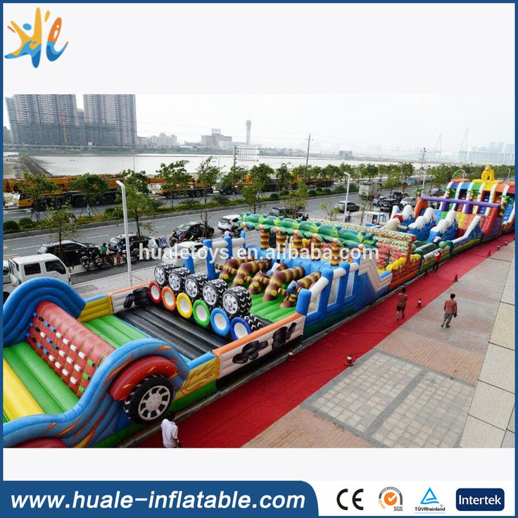 Inflatable obstacle courses for adults with