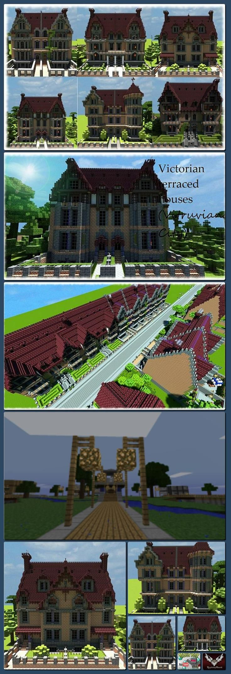 Npc village buildings by coltcoyote on deviantart apps directories - Victorian Terraced Houses Collection Vitruvian City Minecraft Project Collage Made With One Click