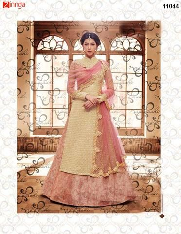 CHAHAT CREATIONS-Women's Beautiful Silk Salwar Kameez - 11044