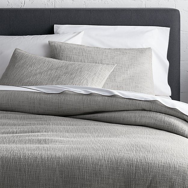 Best 25 grey duvet covers ideas on pinterest comfy bed for King shams on queen bed