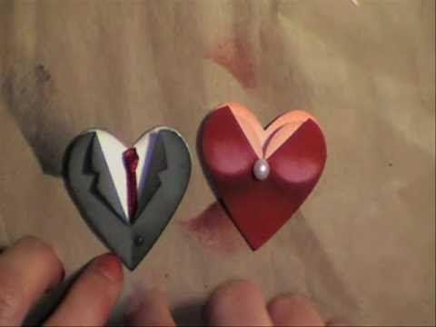 Valentine / wedding heart punch couple