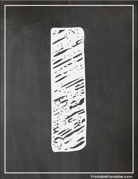 Printable Letter I Chalkboard Writing