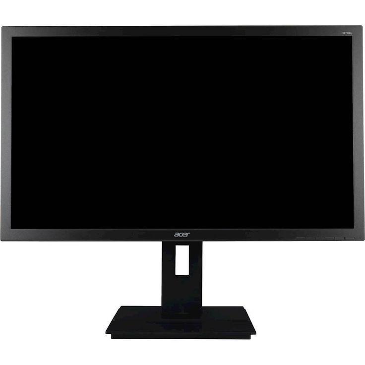 "Acer - Refurbished B6 Series B276HUL 27"" IPS LED HD Monitor - Dark Gray"